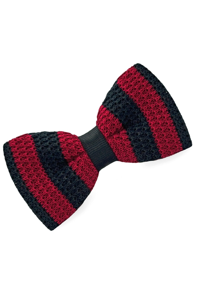 C² KNITTED BOWTIE Navy/Red