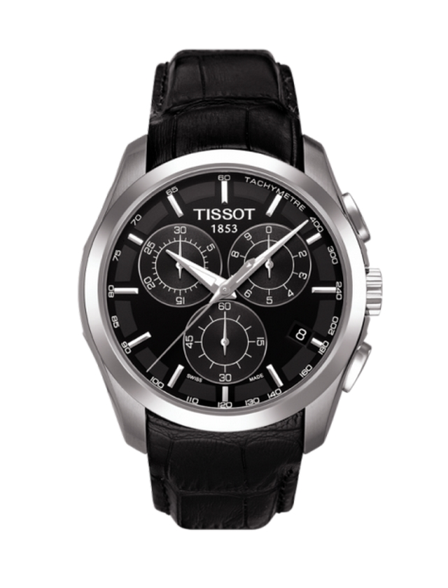 TISSOT 'Couturier' Gents Watch Leather