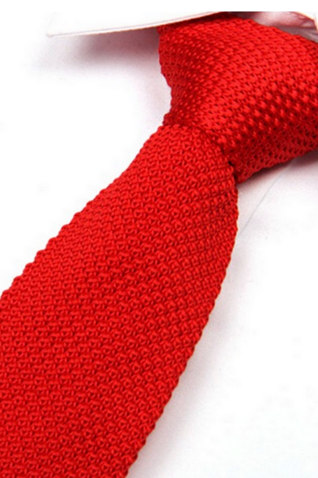 C² KNITTED TIE Red