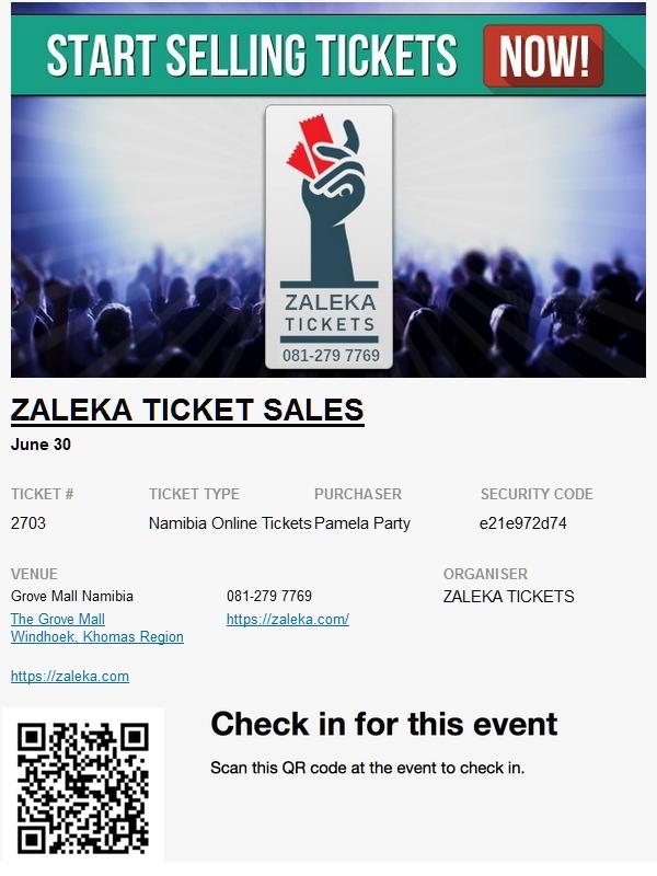 ZALEKA ONLINE TICKET SALES